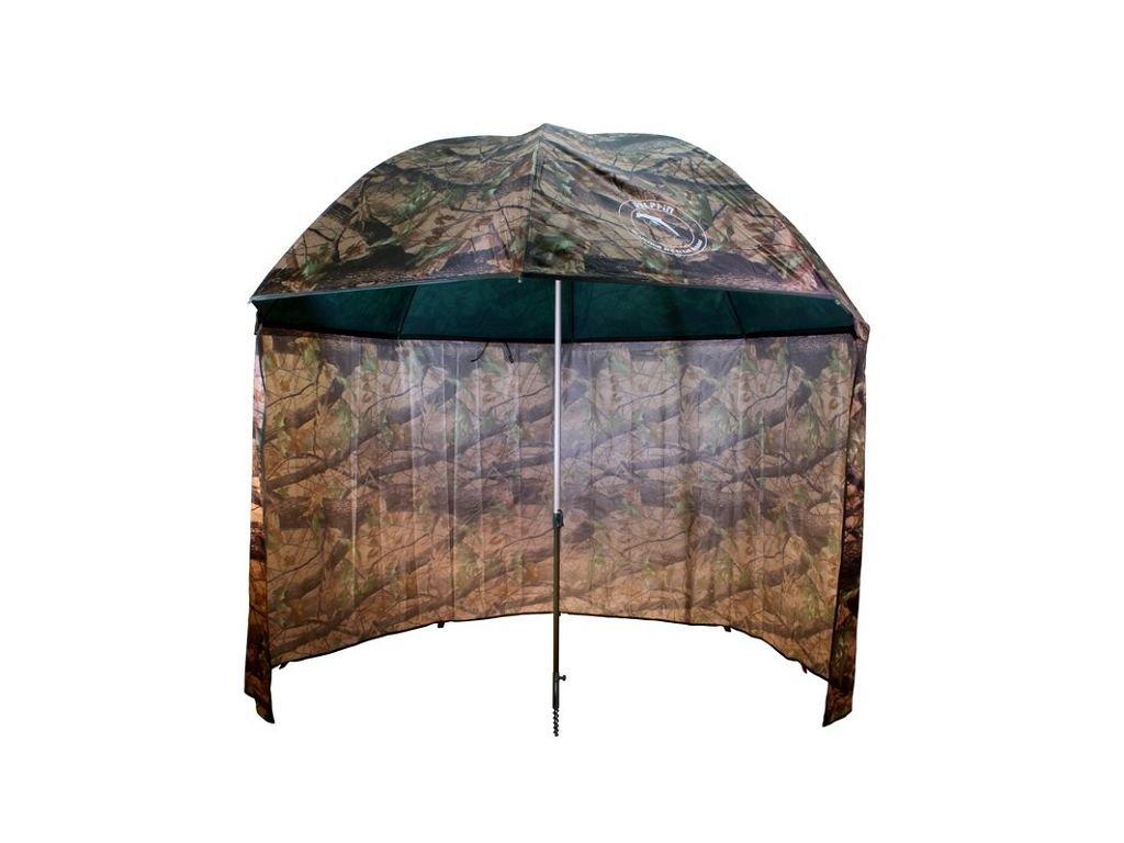 DELPHIN Deštník PVC s prodlouženou bočnicí - 250cm/kamufláž
