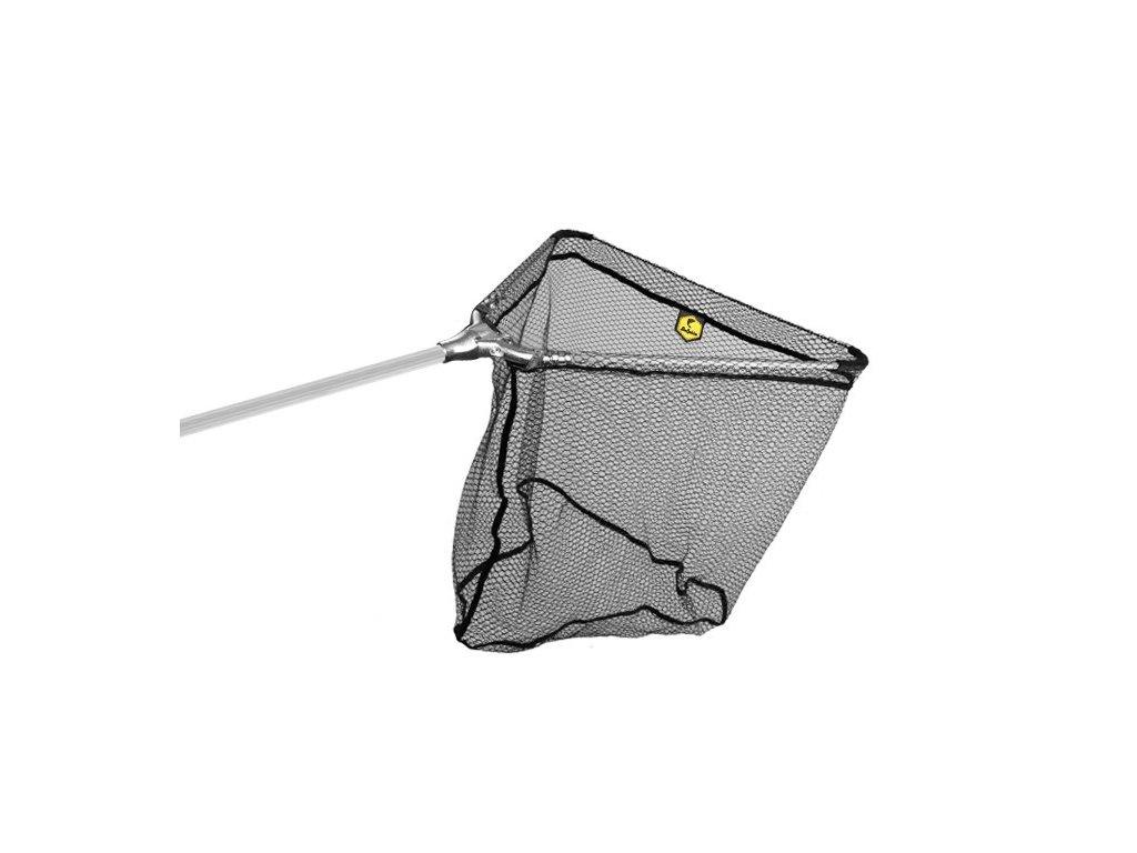Podběrák Delphin kovový střed, pogumovaná síťka - 60x60/170  cm