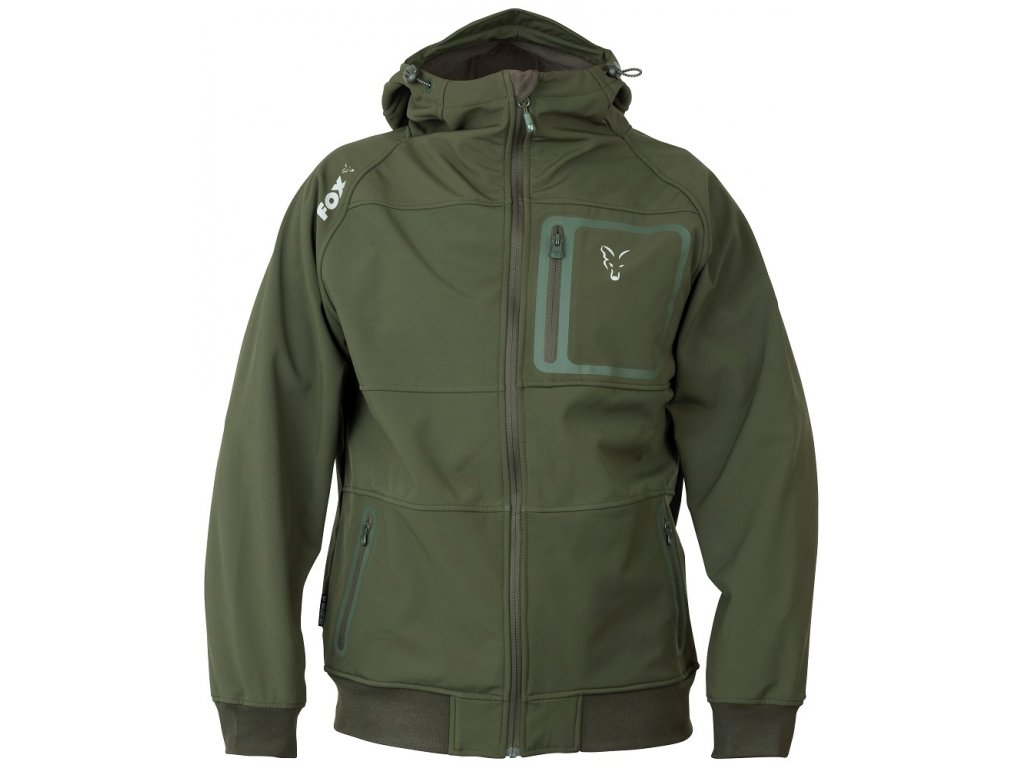 Fox Bunda Collection Green & Silver Shell Hoody - vel. L