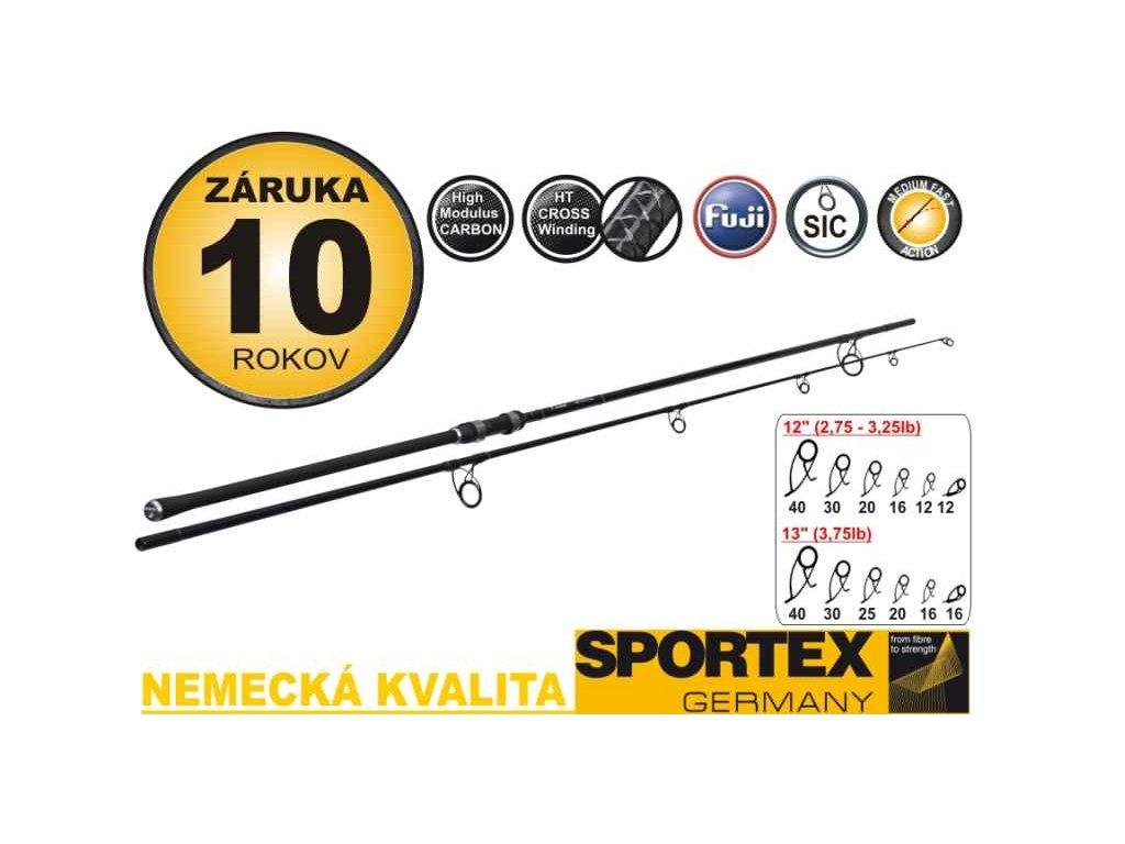SPORTEX Paragon Carp dvoudílný - 2,75lbs, 366cm