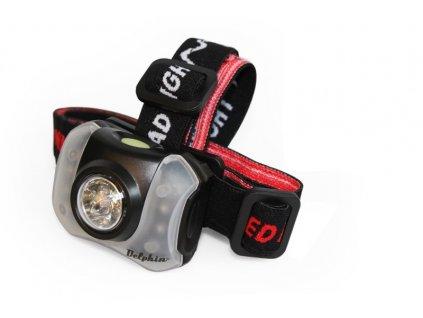 DELPHIN Čelová lampa Delphin POLAR_X 5+4 LED