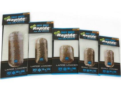 Fox Náhradní PVA Sáčky Edges Rapide Refills Fast Melt roz. 55x120 mm, 25 ks