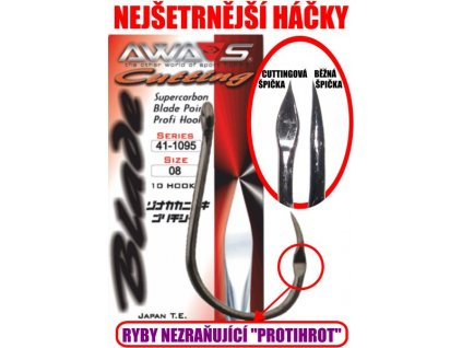 Awa-Shima Cutting blade 1095 bez protihrotu vel.2/0 10 ks