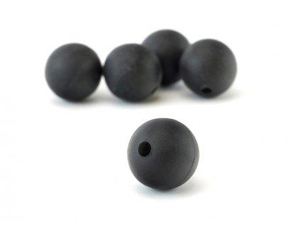 Monster Cat stopper,  Shock Bead, 12mm, 5ks, barva černá