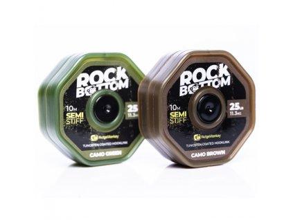 RidgeMonkey Rock Bottom tungstenem potažená návazcová šňůrka 25 lb -soft coated camo green