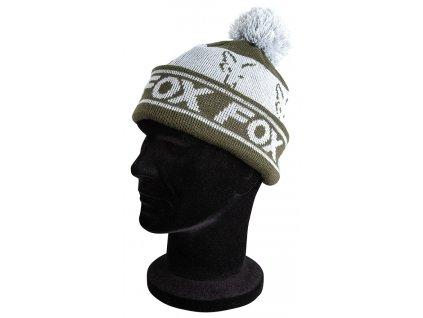 Fox Čepice Green/Silver, Lined Bobble Hat