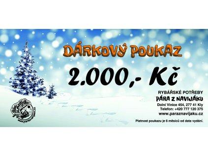 Vánoční poukaz 2.000 Kč