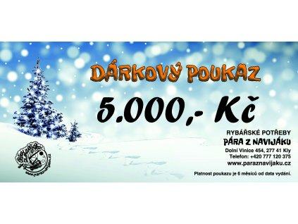 Vánoční poukaz 5.000 Kč