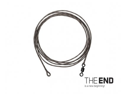 Návazec THE END Leadcore + swivel / 3ks, 1m