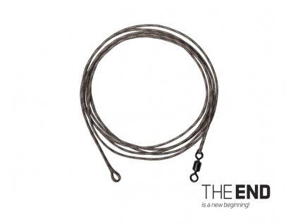 Návazec THE END Leadcore + PIN clip / 3ks, 1m