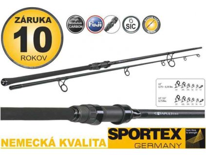 Kaprové pruty SPORTEX Catapult CS 3 Carp 2 díl - 366cm / 3,25lbs