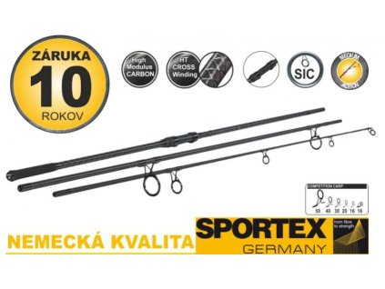 SPORTEX Competition Carp CS-4 Stalker 3,65m 3,00lbs 3díly