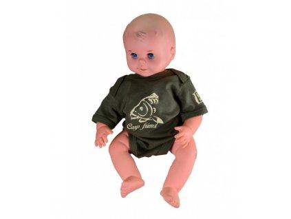 R-spekt Baby body Carp Friend khaki 3-6 měsíců