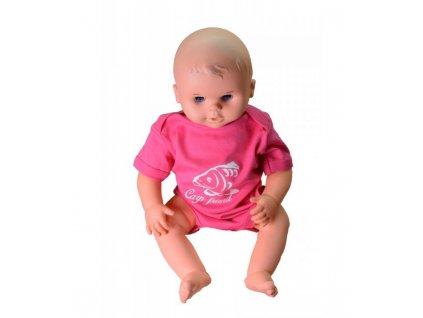 R-spekt Baby body Carp Friend pink 6-12 měsíců