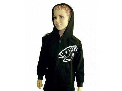 R-Spekt Dětská mikina zipová s kapucí Carper Kids black vel. 11/12 let