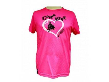 R-Spekt Dětské tričko Carp Love fluo pink vel. 11/12 let