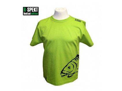 R-Spekt Dětské tričko Carper kids pistáciové  vel. 7/8 let
