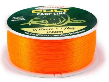 Climax silon CULT Carpline oranžový 3000m 0,30mm 8,3 kg