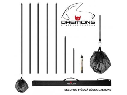 DAEMONS Sklopná tyčová bójka DAEMONS se svítící elektronikou a stmívacím čidlem