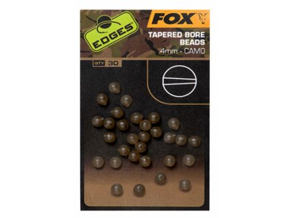 Fox korálky FOX EDGES CAMO TAPERED BORE BEADS 6MM 30ks