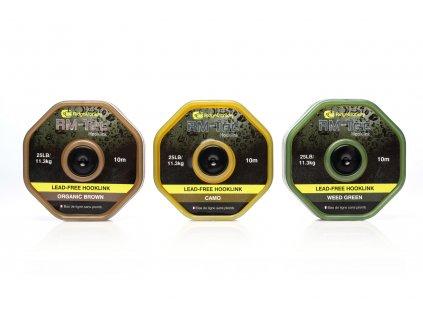 RidgeMonkey šňůra RM-Tec Lead Free Hooklink 25lb 10m Camo