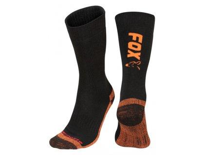 Fox Ponožky Collection Thermolite long sock Black/Orange  40-43