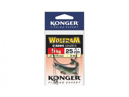 Konger Wolframové lanko 2ks - 25cm/15kg