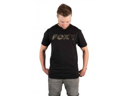 Fox Triko Black/Camo Chest Print T-Shirt vel. M