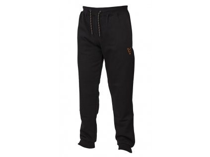 Fox Tepláky Collection Black Orange Joggers - velikost XL