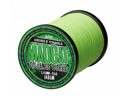 MADCAT pletená šňůra Distance 8-Braid Fluo Žlutá/Zelená 0,45mm 100lb 1210m