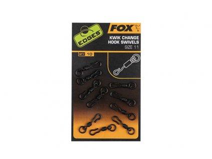 Fox Kwik Change Hook Swivels vel. 10 (rychlovýměnné obratlíky)