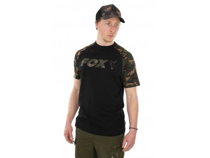 Fox Triko Raglan T-Shirt Black/Camo vel. 2XL