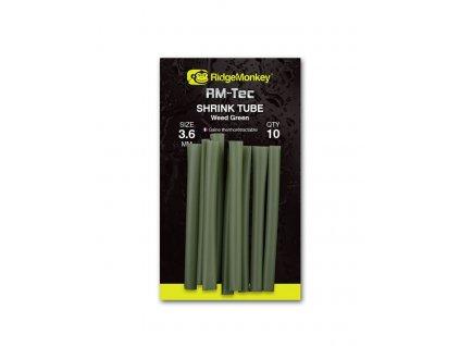 RidgeMonkey Smršťovací hadička RM-Tec Shrink Tube 3,6mm Silt Black 10ks