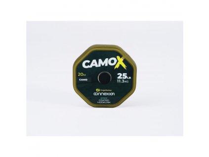 RidgeMonkey Šňůrka Connexion CamoX Stiff Coated Hooklink 25lb 20m