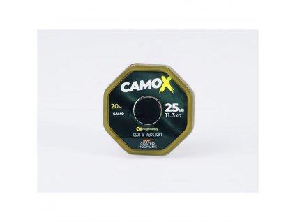 RidgeMonkey Šňůrka Connexion CamoX Soft Coated Hooklink 35lb 20m