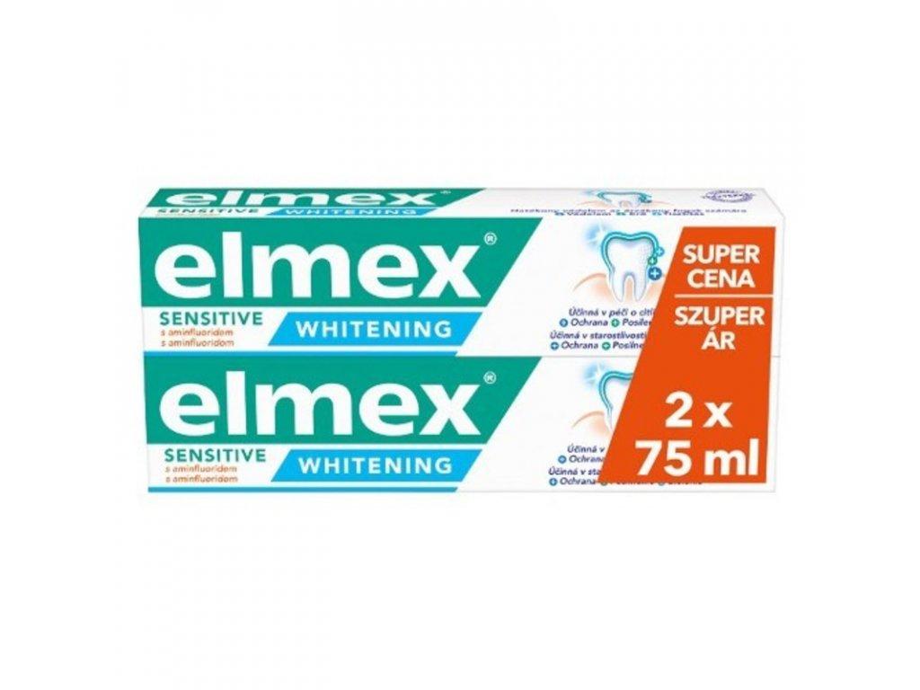 Elmex Bělicí zubní pasta pro citlivé zuby Sensitive Whitening Duopack 2x