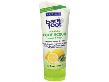 Freeman  Revitalizační peeling na nohy s citronem a šalvějí - (Revitalizing Foot Scrub Lemon & Sage)