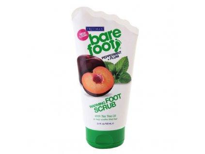 Freeman  Samozahřívací peeling na nohy s mátou a švestkou - (Warming Foot Scrub Peppermint + Plum)