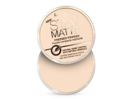 Rimmel London Stay Matte - (001 Transparent) Matující kompaktní pudr