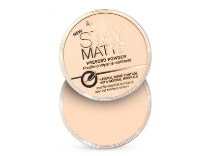 Rimmel London Stay Matte - (003 Peach Glow) Matující kompaktní pudr