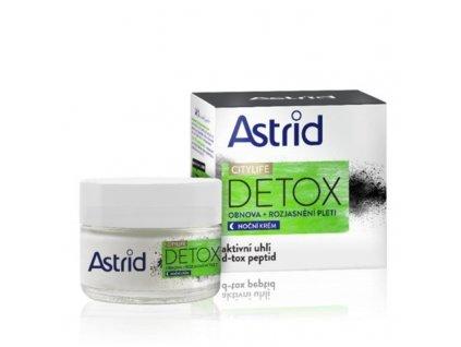 Astrid Obnovující rozjasňující noční krém Citylife Detox