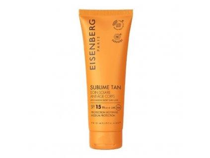 Eisenberg Tělový opalovací krém proti stárnutí pokožky SPF 15 - (Anti-Ageing Body Sun Care)