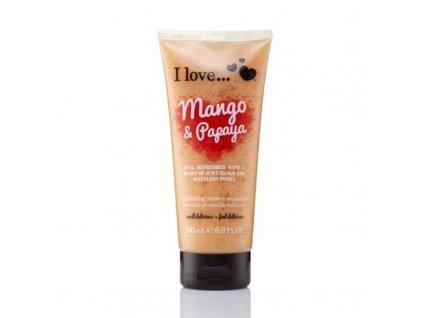 I Love Přírodní sprchový peeling s vůní manga a papáji - (Mango & Papaya Exfoliating Shower Smoothie)