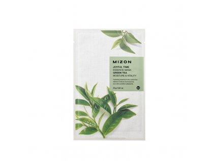 Mizon Plátýnková 3D maska se zeleným čajem pro hydrataci a vitalitu pleti Joyful Time - (Essence Mask Green Tea)