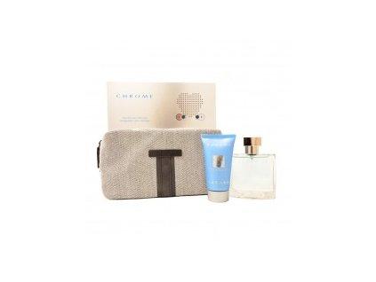 Azzaro Chrome - toaletní voda 50 ml + sprchový gel 50 ml + taška