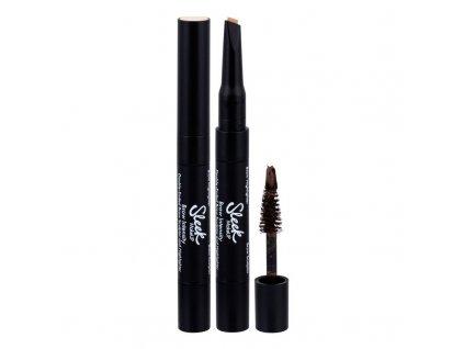 Sleek MakeUP Brow Intensity - (218 Extra Dark) set a paletka na obočí