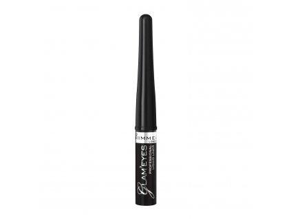 Rimmel London Glam Eyes Liquid Liner - (001 Black Glamour) oční linka černá