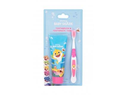 Pinkfong Baby Shark - zubní kartáček 1 ks + zubní pasta 75 ml