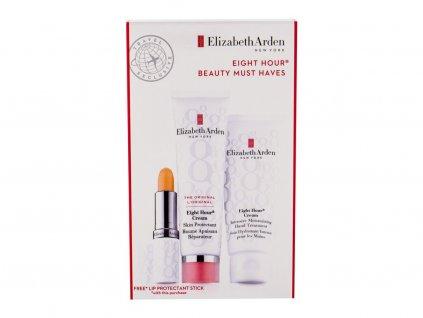 Elizabeth Arden Eight Hour Cream Skin Protectant - ochranná péče 50 ml + hydratační péče na ruce 75 ml + hydratační péče na rty SPF15 3,7 g