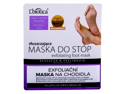 L´Biotica Foot Mask Exfoliating - krém na nohy